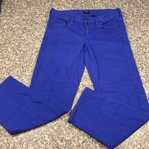 J. Crew Stretch crop jeans size 28 royal blue